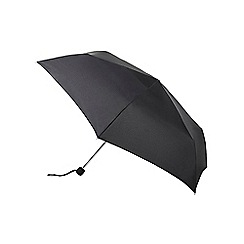 Fulton - Black umbrella with elastic carry strap