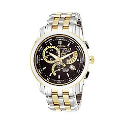 Citizen - Men's round dial with two tone bracelet watch bl8004-53e