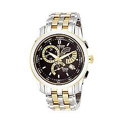Citizen - Men's round dial with two tone bracelet watch BL8004-53E