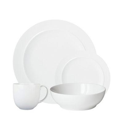 sc 1 st  Debenhams & Denby u0027Whiteu0027 16 piece dinnerware set   Debenhams