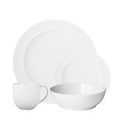 Denby - 'White' 16 piece dinnerware set