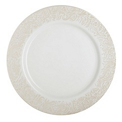 Denby - Cream 'Monsoon Lucille Gold' dinner plate