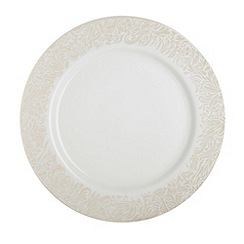 Denby - Cream 'Monsoon Lucille Gold' salad plate