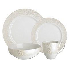 Denby - Cream glazed 'Monsoon Lucille' 16 piece dinnerware set