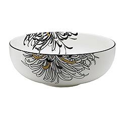 Denby - Cream glazed 'Monsoon Chrysanthemum' serving bowl