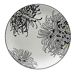 Denby - Glazed 'Monsoon Chrysanthemum' serving platter