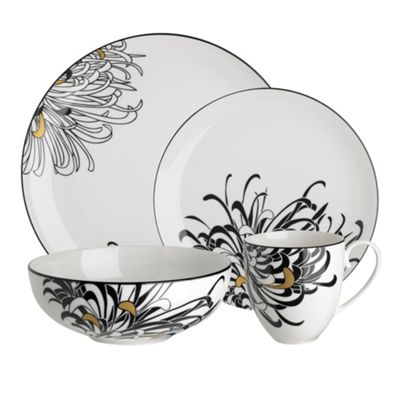 sc 1 st  Debenhams & Denby Glazed u0027Monsoon Chrysanthemumu0027 16 piece dinnerware set | Debenhams
