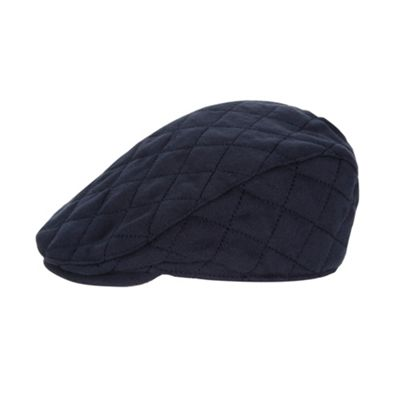 94213ce6f97 J by Jasper Conran - Baby boys  designer navy quilted flat cap