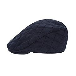J by Jasper Conran - Baby boys' designer navy quilted flat cap