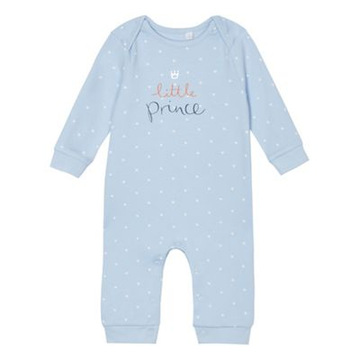 Baby baby gifts kids debenhams bluezoo babies light blue little prince sleepsuit negle Image collections