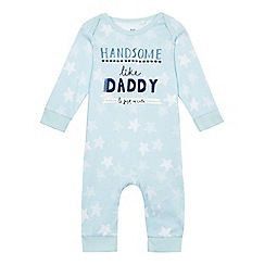 bluezoo - Baby boys' blue slogan print sleepsuit