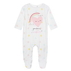 bluezoo - Baby girls' pink 'Grandma's little sunshine' sleepsuit
