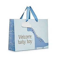bluezoo - Baby boys' 'Welcome Baby Boy' dinosaur gift bag