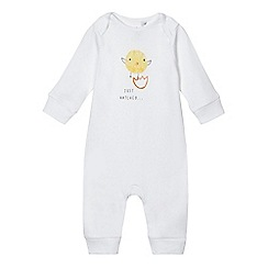 bluezoo - Babies white chick sleepsuit