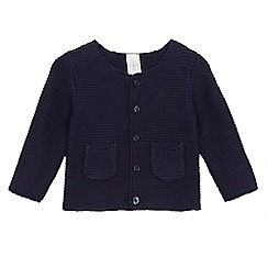 J by Jasper Conran - Baby girls' button-up navy cardigan