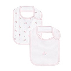 J by Jasper Conran - Pack of two baby girls' floral pink bibs