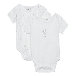 J by Jasper Conran - Designer babies white teddy bear body suit