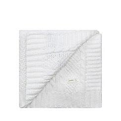 J by Jasper Conran - White chenille pram blanket