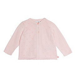 J by Jasper Conran - Baby girls' pink pointelle cardigan