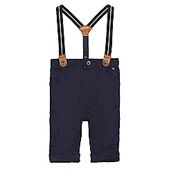 J by Jasper Conran - Baby boys' navy chinos with braces