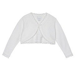bluezoo - Baby girl's white scalloped cardigan