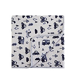 bluezoo - Grey transport print blanket
