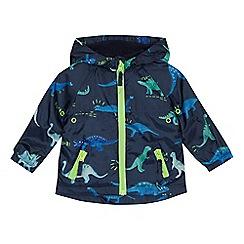 bluezoo - Baby boys' navy dinosaur print mac