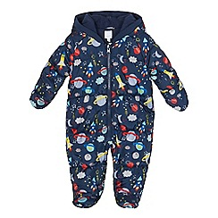 bluezoo - Baby boys' blue space print padded snowsuit