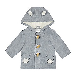 bluezoo - Baby boys' grey fleece coat