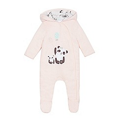 bluezoo - Baby girls' pink applique all in one