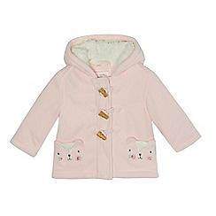 bluezoo - Baby girls' pink fleece coat