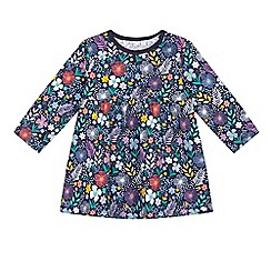 bluezoo - Baby girls' multi-coloured floral print dress