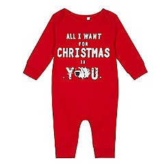 bluezoo - Babies' red 'All I Want For Xmas' romper
