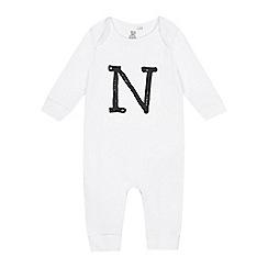 bluezoo - Babies white 'N' print sleepsuit