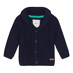 J by Jasper Conran - Baby boys' navy cable knit cardigan