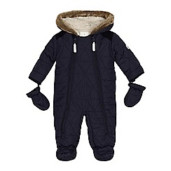 J by Jasper Conran - Baby boys' navy padded snowsuit