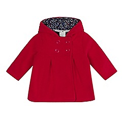 J by Jasper Conran - Baby girls' red fleece coat