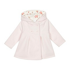 J by Jasper Conran - 'Baby girls' pink fleece coat