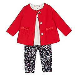 J by Jasper Conran - Baby girls' assorted top, jacket and leggings set