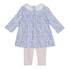 J by Jasper Conran - Baby girls' multi-coloured floral print dress and leggings set