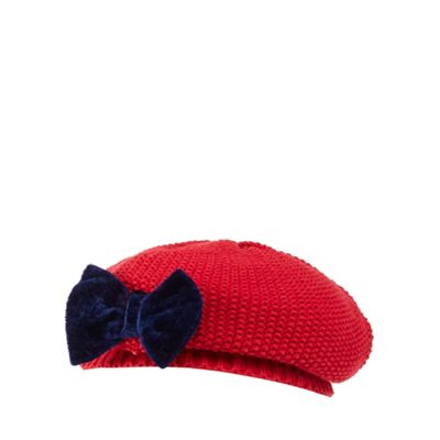 901bb9612 Baby girls' red knitted beret