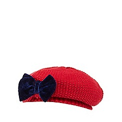 J by Jasper Conran - Baby girls' red knitted beret