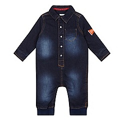 Mantaray - Baby boys' dark blue denim romper suit