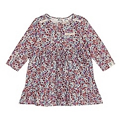 Mantaray - Baby girls' multi-coloured ditsy print tiered dress