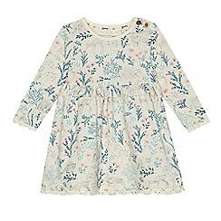 Mantaray - Babies cream woodland print jersey dress