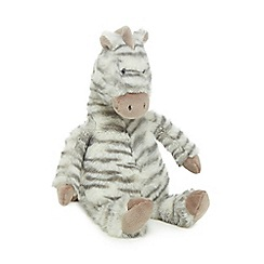 Jellycat - Grey 'Fluffles' zebra soft toy