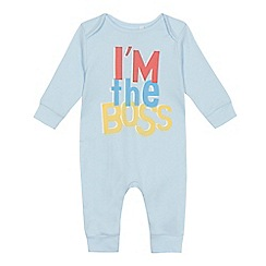 bluezoo - Baby boys' blue 'I'm The Boss' sleepsuit