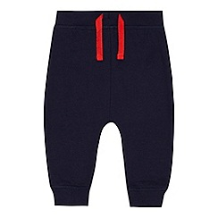 bluezoo - Baby boys' navy fire engine applique jogging bottoms