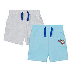 bluezoo - '2 pack baby boys' blue and grey shorts