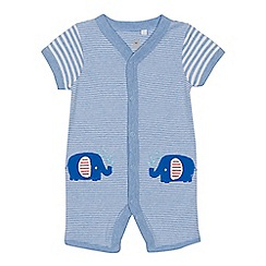 bluezoo - 'Baby boys' blue striped romper suit